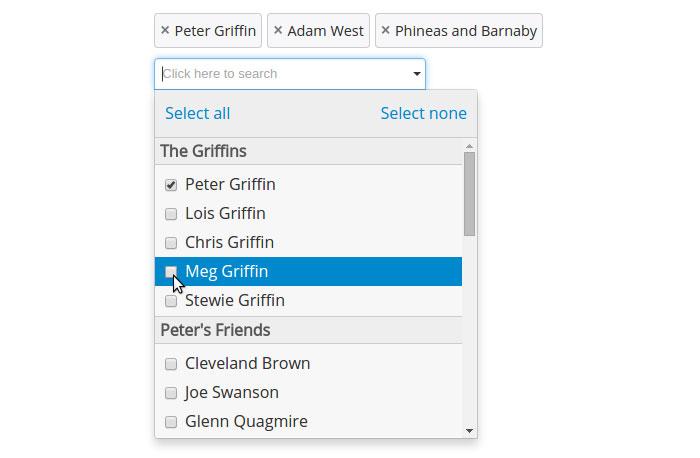 Searchable Option List