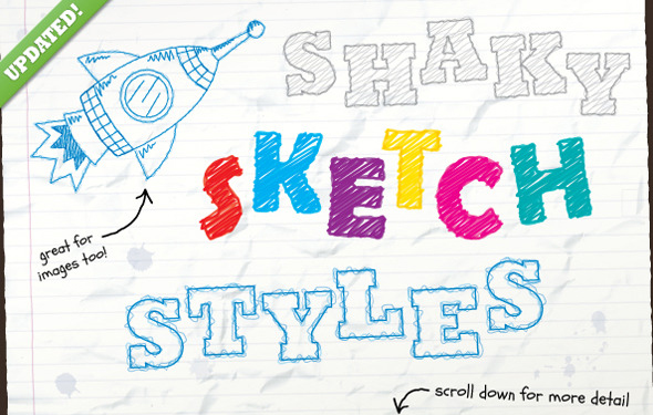 Shaky Sketch Text Styles