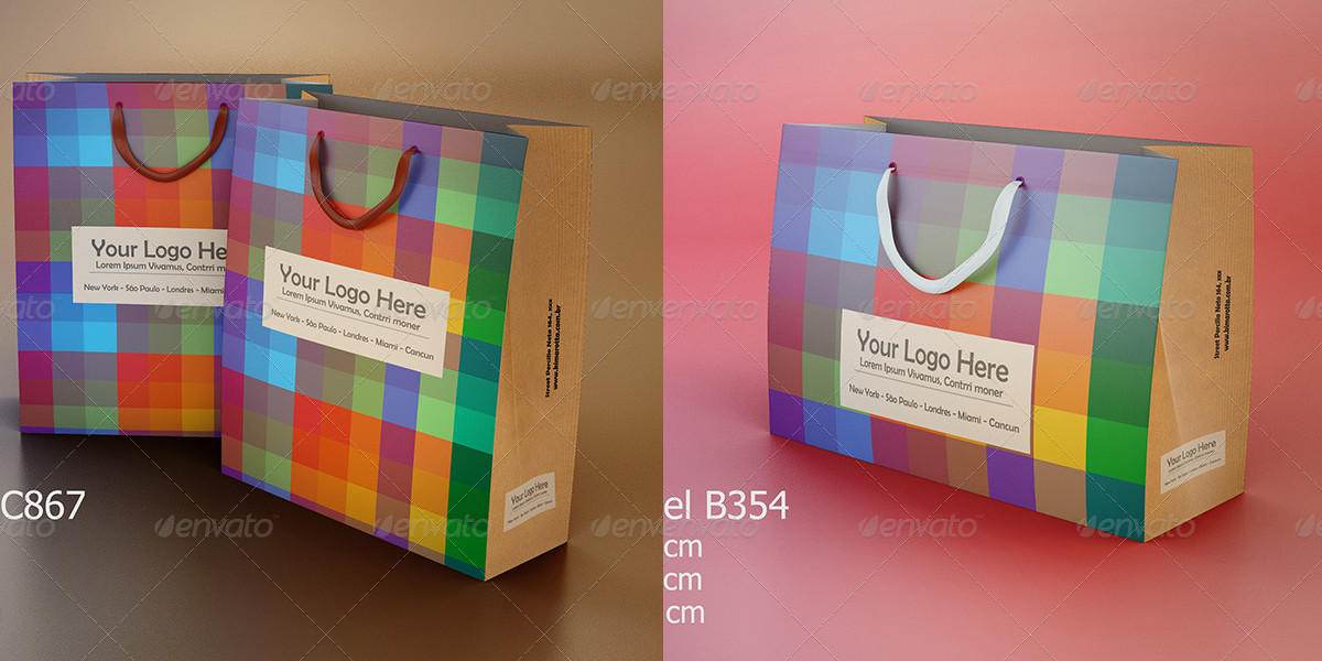 Shopping Bag Mockups 4 Styles