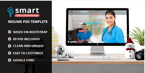 Smart - Personal Profile PSD Template