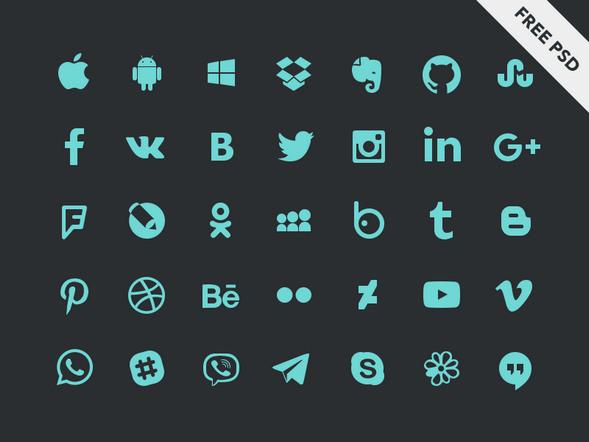 Social Icons By Elena