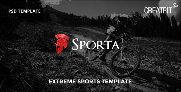 Sporta - Extreme Sports PSD Template