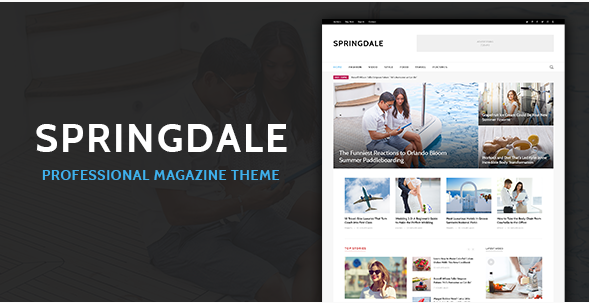 Springdale - Magazine PSD Template