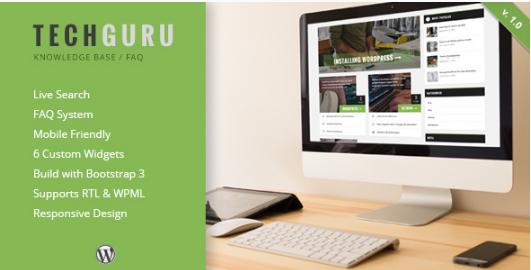 TECHGURU Best WordPress Knowledge Base Themes