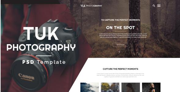 TUK - Photography PSD Template