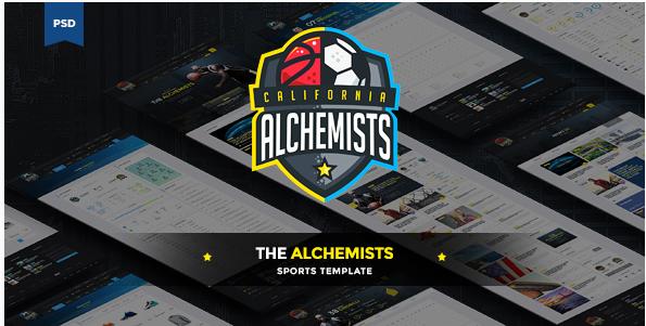 The Alchemists - Sports News PSD Template