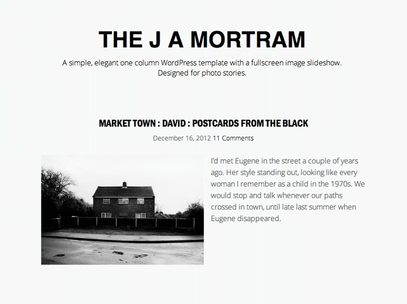The J A Mortram