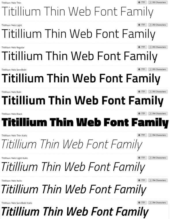 Titillium-Web-Font-Family