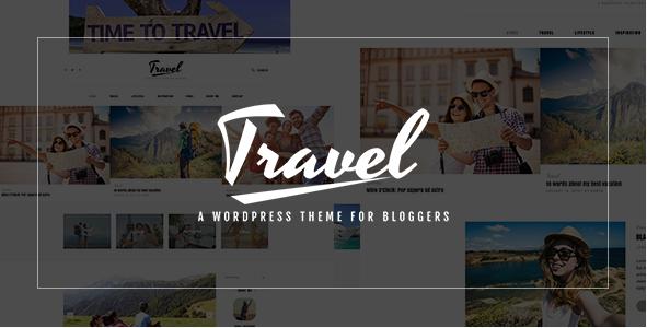 Travel Blog - PSD Template
