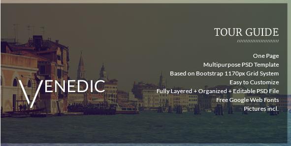 VENEDIC - Tour Guide - PSD Template