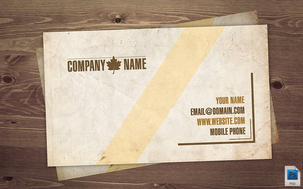 VINATAGE BUSINESS CARD