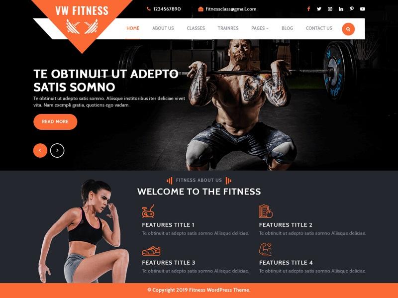 VW Fitness Gym Fitness WordPress Theme
