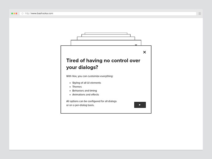 Vex: Best jQuery Modal Plugins