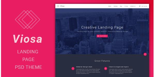 Viosa - Landing Page PSD Template
