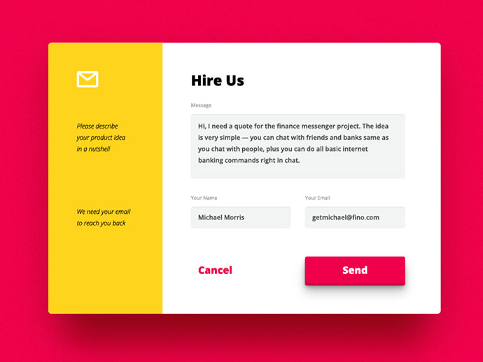 VisualRocks — Website Contact Form