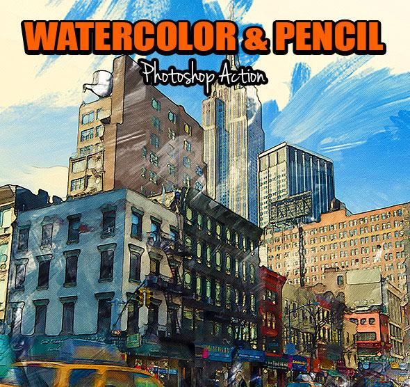 Watercolor & Pencil