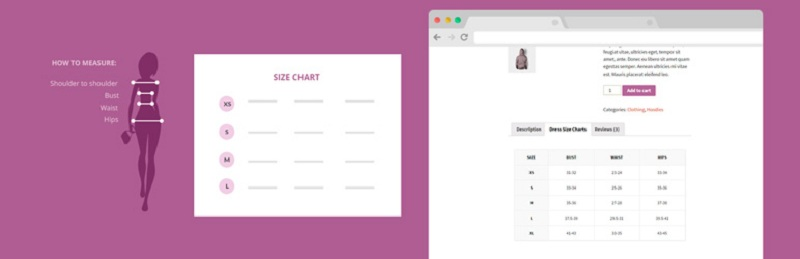 YITH Product Size Charts for WooCommerce