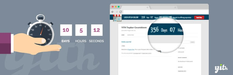 YITH Topbar Countdown
