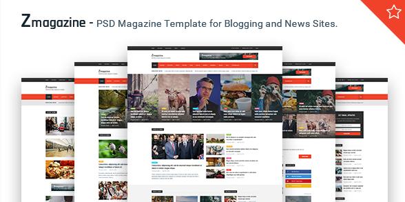 Zmagazine - Magazine PSD Template