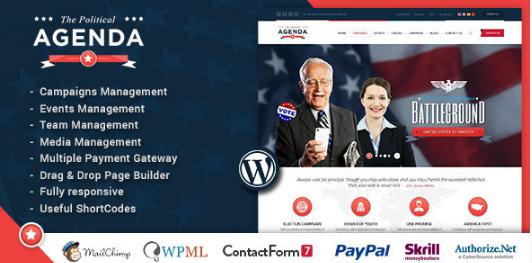 agenda Best WordPress Political Themes