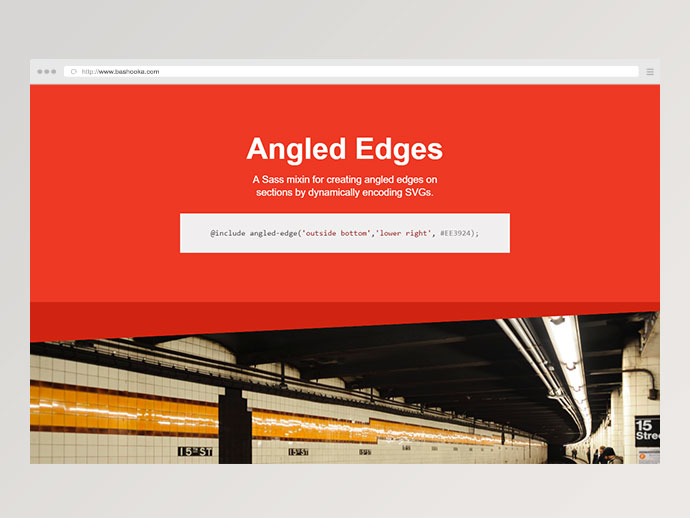 angled-edge CSS Tools For Designers