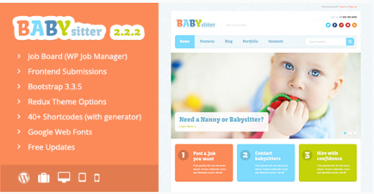 baby sittyer best-wordpress-kids-and-kindergarten-themes
