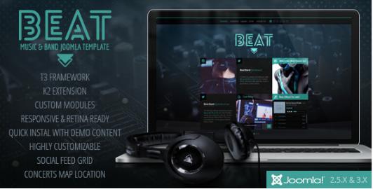 Beat: Best Music Joomla Themes