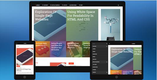 dw argo Best WordPress Metro Style Themes