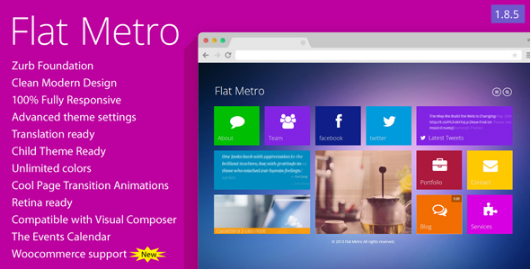 flat metro Best WordPress Metro Style Themes