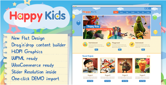 happy kids best-wordpress-kids-and-kindergarten-themes
