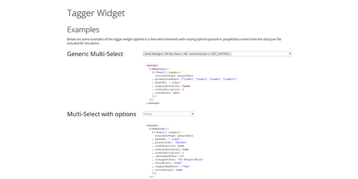 jquery-tagger
