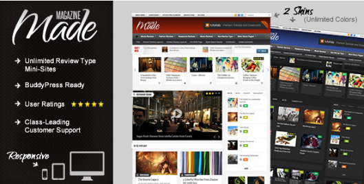 made Best WordPress Review Themes