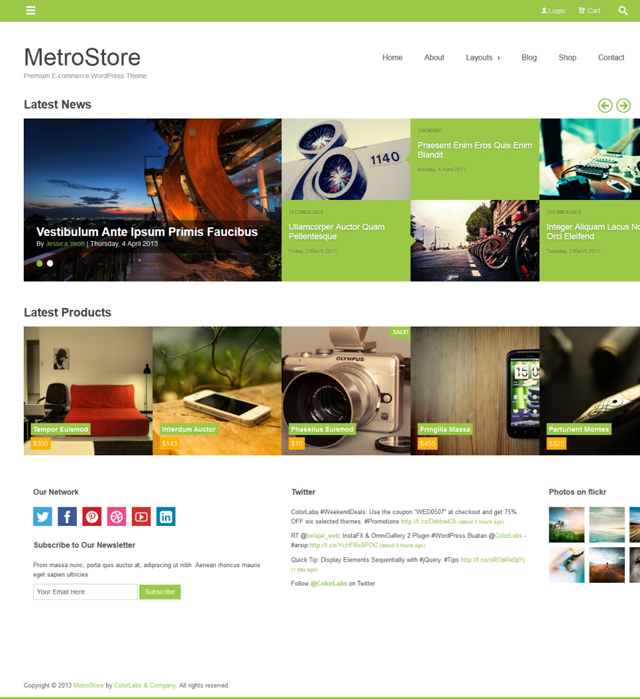 metrostore Best WordPress Metro Style Themes