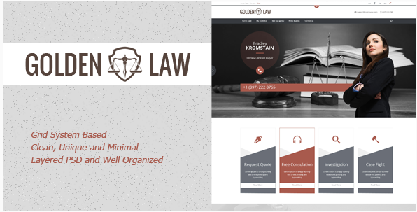 olden Law - clean PSD template