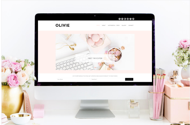 olivie Best WordPress Feminine Themes