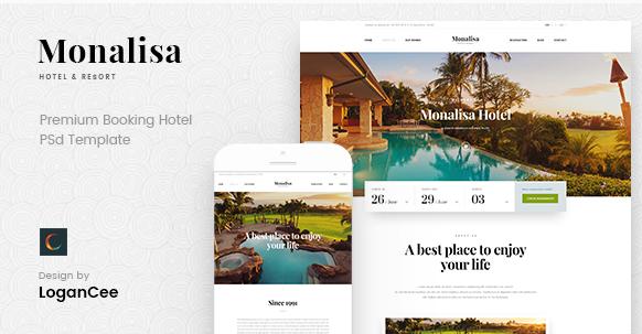 onalisa - Premium Booking Hotel PSD Template