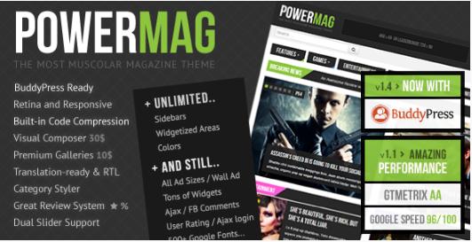 powermag Best WordPress Review Themes