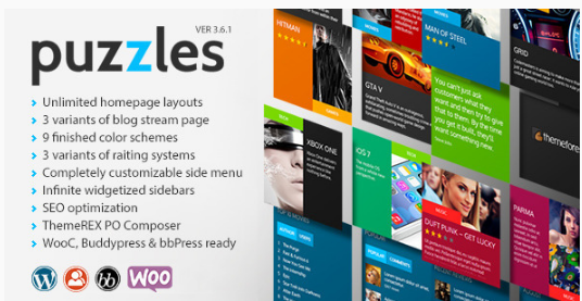 puzzles Best WordPress Metro Style Themes