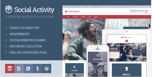 social activity Best WordPress Political Themes
