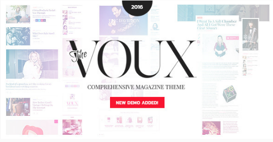 the voux Best WordPress Feminine Themes