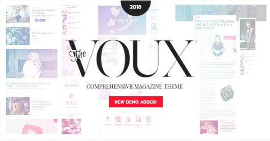 the voux Best WordPress Feminine Themes