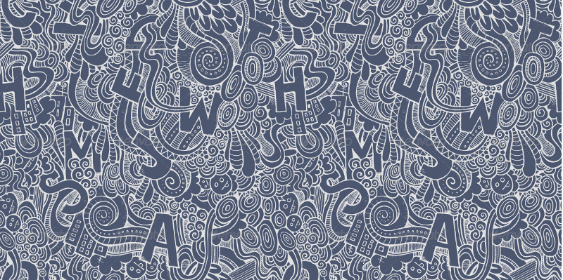 3-Abstract-Doodles-Letters-Seamless-Pattern