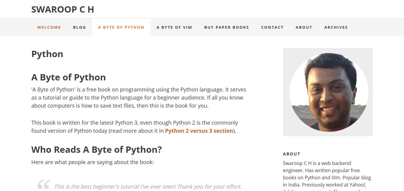 A-Byte-of-Python
