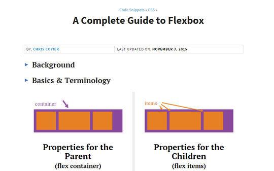 A Complete Guide to Flexbox