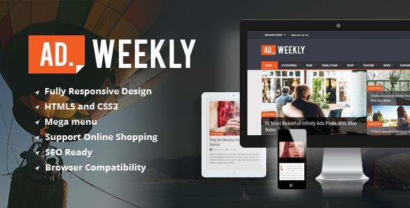 AD.WEEKLY - Magazine HTML5 Templa