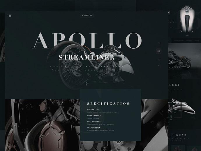 Typographic Website Concepts