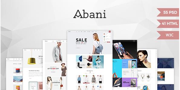 Abani – Multi Purpose eCommerce HTML Template