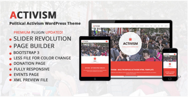 Activism - Political Activism WordPress Theme