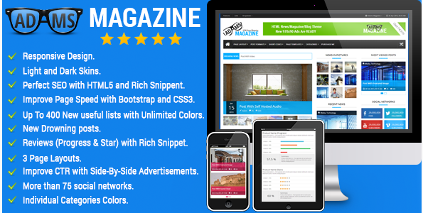 Adams Magazine - Responsive MagazineBlog Theme