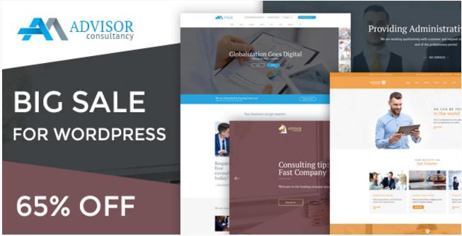 Advisor - Business, Finance WordPress Theme
